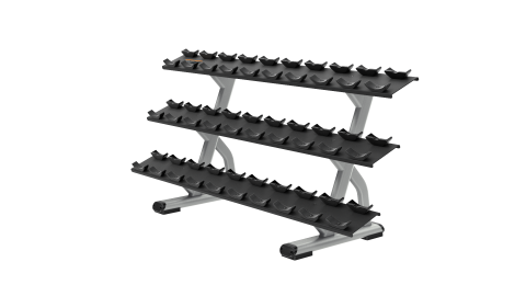 Precor Discovery Series 3 Tier, 15 Pair Dumbbell Rack