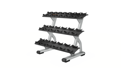 Precor Discovery Series 3 Tier, 10 Pair Dumbbell Rack